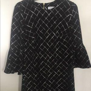 Calvin Klein Black & White Dress New Size 8 ($134)